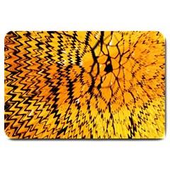 Yellow Chevron Zigzag Pattern Large Doormat