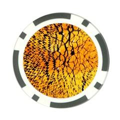 Yellow Chevron Zigzag Pattern Poker Chip Card Guard