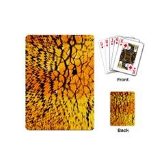 Yellow Chevron Zigzag Pattern Playing Cards (mini)