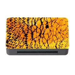 Yellow Chevron Zigzag Pattern Memory Card Reader With Cf