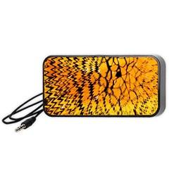 Yellow Chevron Zigzag Pattern Portable Speaker (black)