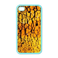 Yellow Chevron Zigzag Pattern Apple Iphone 4 Case (color)
