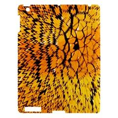 Yellow Chevron Zigzag Pattern Apple Ipad 3/4 Hardshell Case