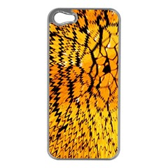 Yellow Chevron Zigzag Pattern Apple Iphone 5 Case (silver)