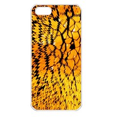 Yellow Chevron Zigzag Pattern Apple Iphone 5 Seamless Case (white)