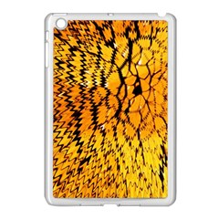 Yellow Chevron Zigzag Pattern Apple Ipad Mini Case (white)