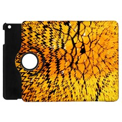 Yellow Chevron Zigzag Pattern Apple Ipad Mini Flip 360 Case