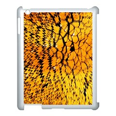 Yellow Chevron Zigzag Pattern Apple Ipad 3/4 Case (white)