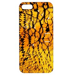 Yellow Chevron Zigzag Pattern Apple Iphone 5 Hardshell Case With Stand