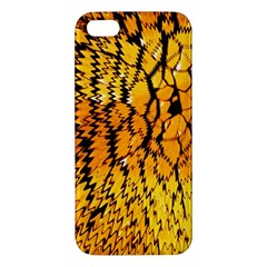 Yellow Chevron Zigzag Pattern Iphone 5s/ Se Premium Hardshell Case