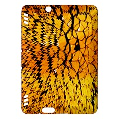Yellow Chevron Zigzag Pattern Kindle Fire Hdx Hardshell Case