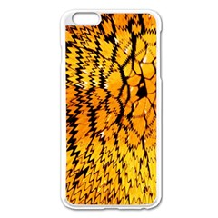Yellow Chevron Zigzag Pattern Apple Iphone 6 Plus/6s Plus Enamel White Case