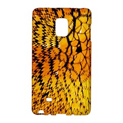 Yellow Chevron Zigzag Pattern Galaxy Note Edge