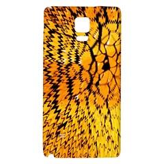 Yellow Chevron Zigzag Pattern Galaxy Note 4 Back Case