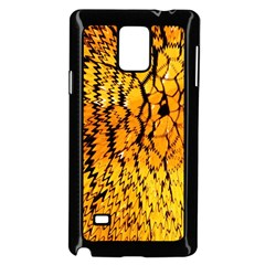 Yellow Chevron Zigzag Pattern Samsung Galaxy Note 4 Case (Black)