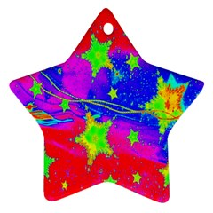 Red Background With A Stars Ornament (Star)