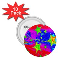 Red Background With A Stars 1 75  Buttons (10 Pack)