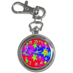Red Background With A Stars Key Chain Watches