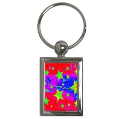 Red Background With A Stars Key Chains (rectangle)