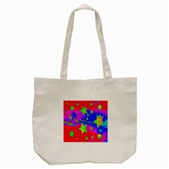 Red Background With A Stars Tote Bag (cream)