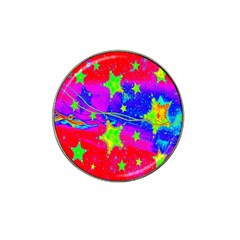 Red Background With A Stars Hat Clip Ball Marker (10 pack)