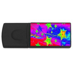 Red Background With A Stars Usb Flash Drive Rectangular (4 Gb)