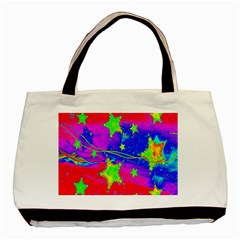 Red Background With A Stars Basic Tote Bag