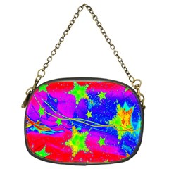 Red Background With A Stars Chain Purses (one Side)