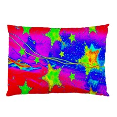 Red Background With A Stars Pillow Case