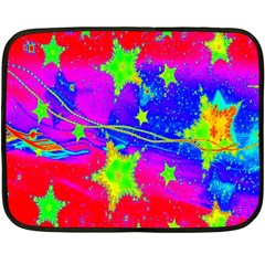 Red Background With A Stars Fleece Blanket (mini)