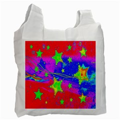 Red Background With A Stars Recycle Bag (two Side)