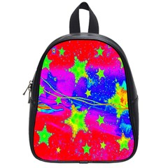 Red Background With A Stars School Bags (small)