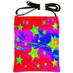 Red Background With A Stars Shoulder Sling Bags