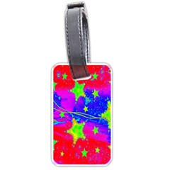 Red Background With A Stars Luggage Tags (two Sides)