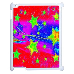 Red Background With A Stars Apple iPad 2 Case (White)