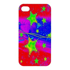 Red Background With A Stars Apple Iphone 4/4s Premium Hardshell Case