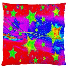 Red Background With A Stars Large Cushion Case (two Sides)