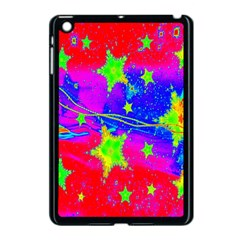 Red Background With A Stars Apple Ipad Mini Case (black)