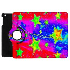 Red Background With A Stars Apple Ipad Mini Flip 360 Case