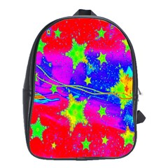 Red Background With A Stars School Bags (xl)