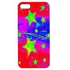 Red Background With A Stars Apple Iphone 5 Hardshell Case With Stand
