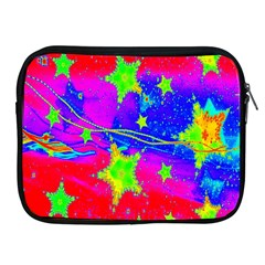 Red Background With A Stars Apple Ipad 2/3/4 Zipper Cases