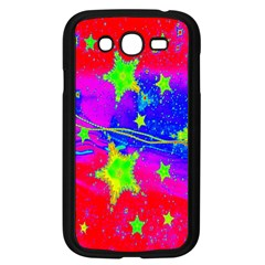 Red Background With A Stars Samsung Galaxy Grand DUOS I9082 Case (Black)