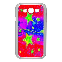 Red Background With A Stars Samsung Galaxy Grand Duos I9082 Case (white)