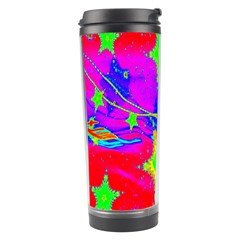 Red Background With A Stars Travel Tumbler