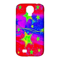 Red Background With A Stars Samsung Galaxy S4 Classic Hardshell Case (pc+silicone)