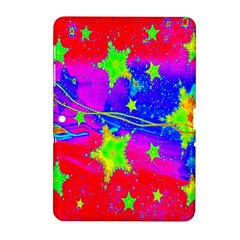 Red Background With A Stars Samsung Galaxy Tab 2 (10 1 ) P5100 Hardshell Case