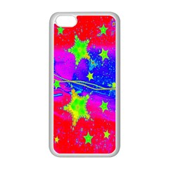 Red Background With A Stars Apple Iphone 5c Seamless Case (white)