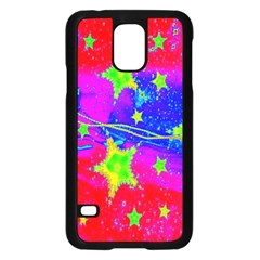 Red Background With A Stars Samsung Galaxy S5 Case (black)