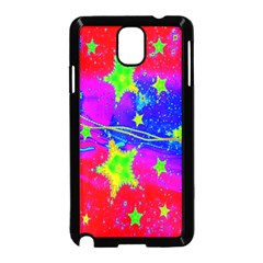 Red Background With A Stars Samsung Galaxy Note 3 Neo Hardshell Case (black)